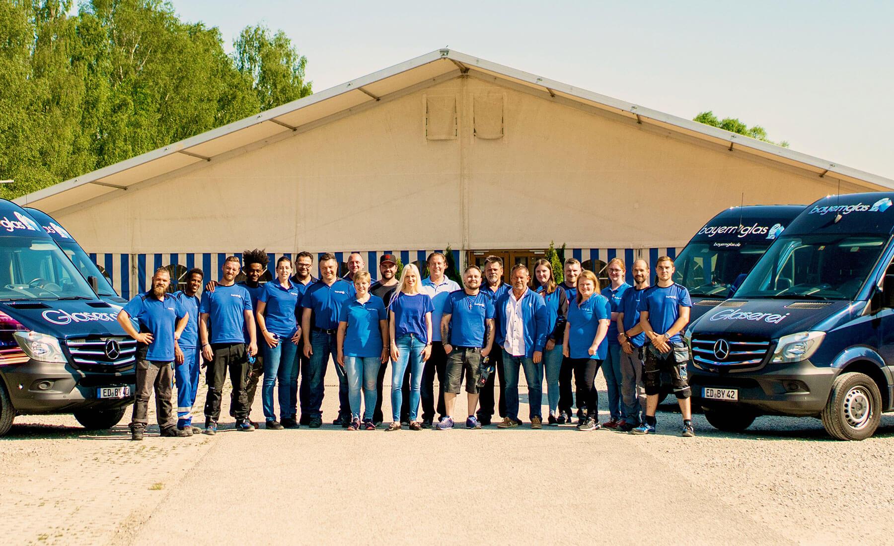 Bayernglas Glaserei Team Glaser