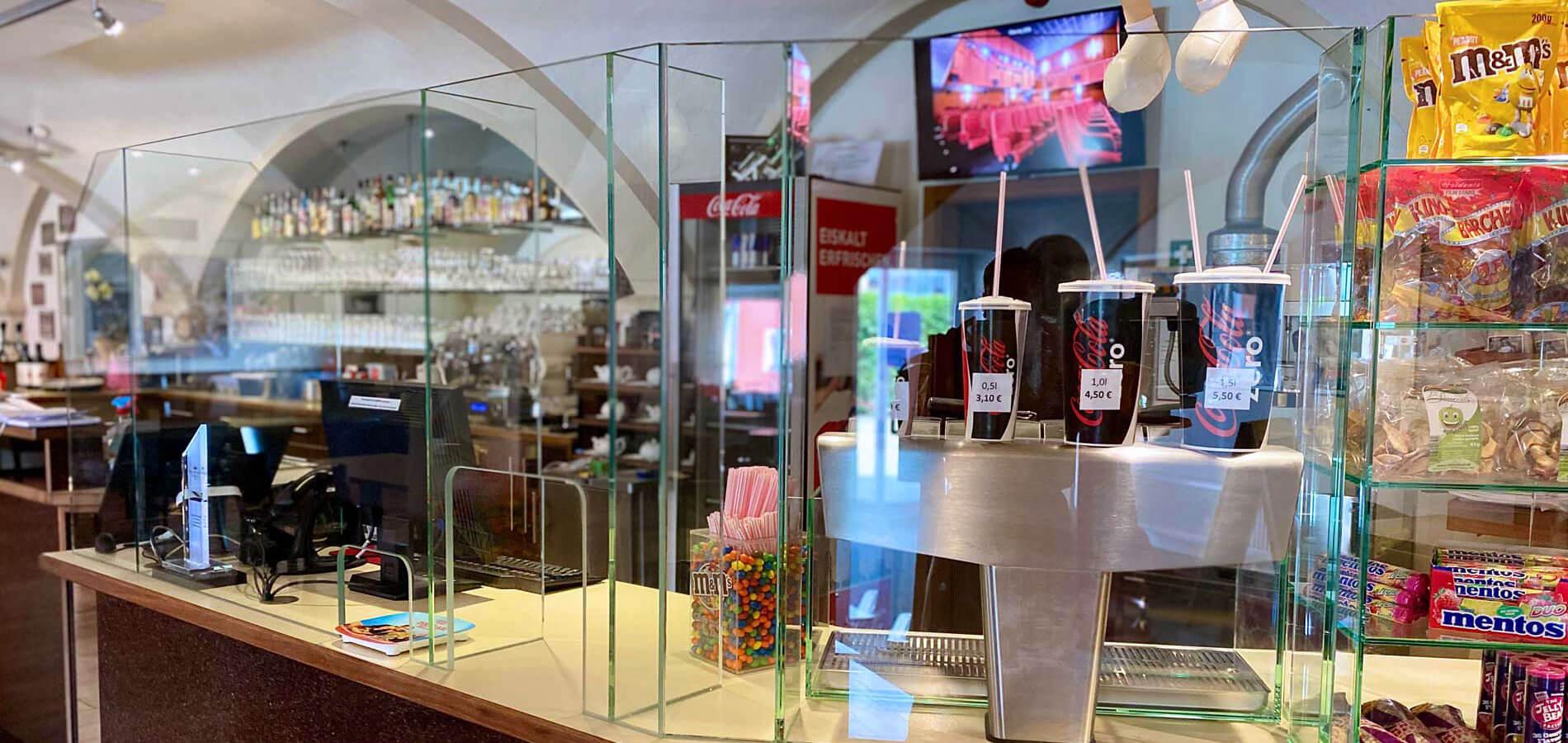 Corona Schutzwände Glas steril kaufen